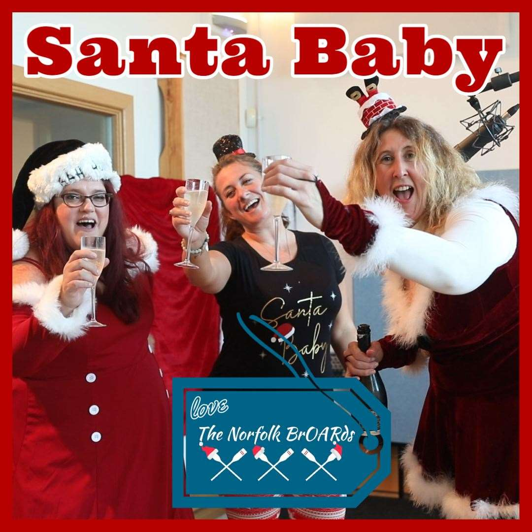 Sandra Squire, Kate Palmer and Kristi Fletcher ofNorfolk BrOARds have released a Christmas charity single. Picture: SUBMITTED (43194910)