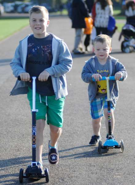 Astro Brain Tumour Walk at Holkham Hall'Brothers Jacob and Toby scooted round Holkham Park in aid of the Astro Tumour Fund