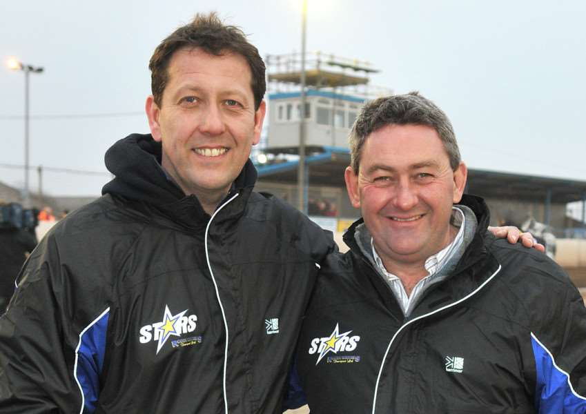 The 2011 Stars Elite League team at the Norfolk Arena - Rob Lyon and Buster Chapman.