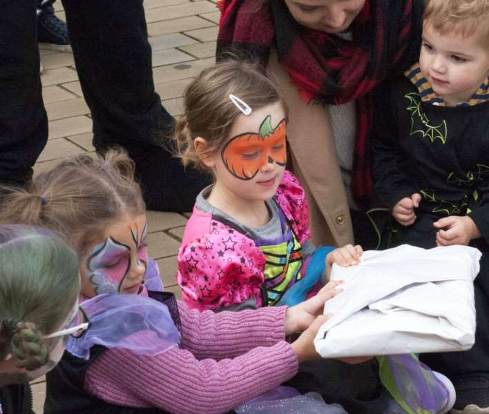 Halloween. Downham Market Town Square. Pictured playing Pass-the -parcel.