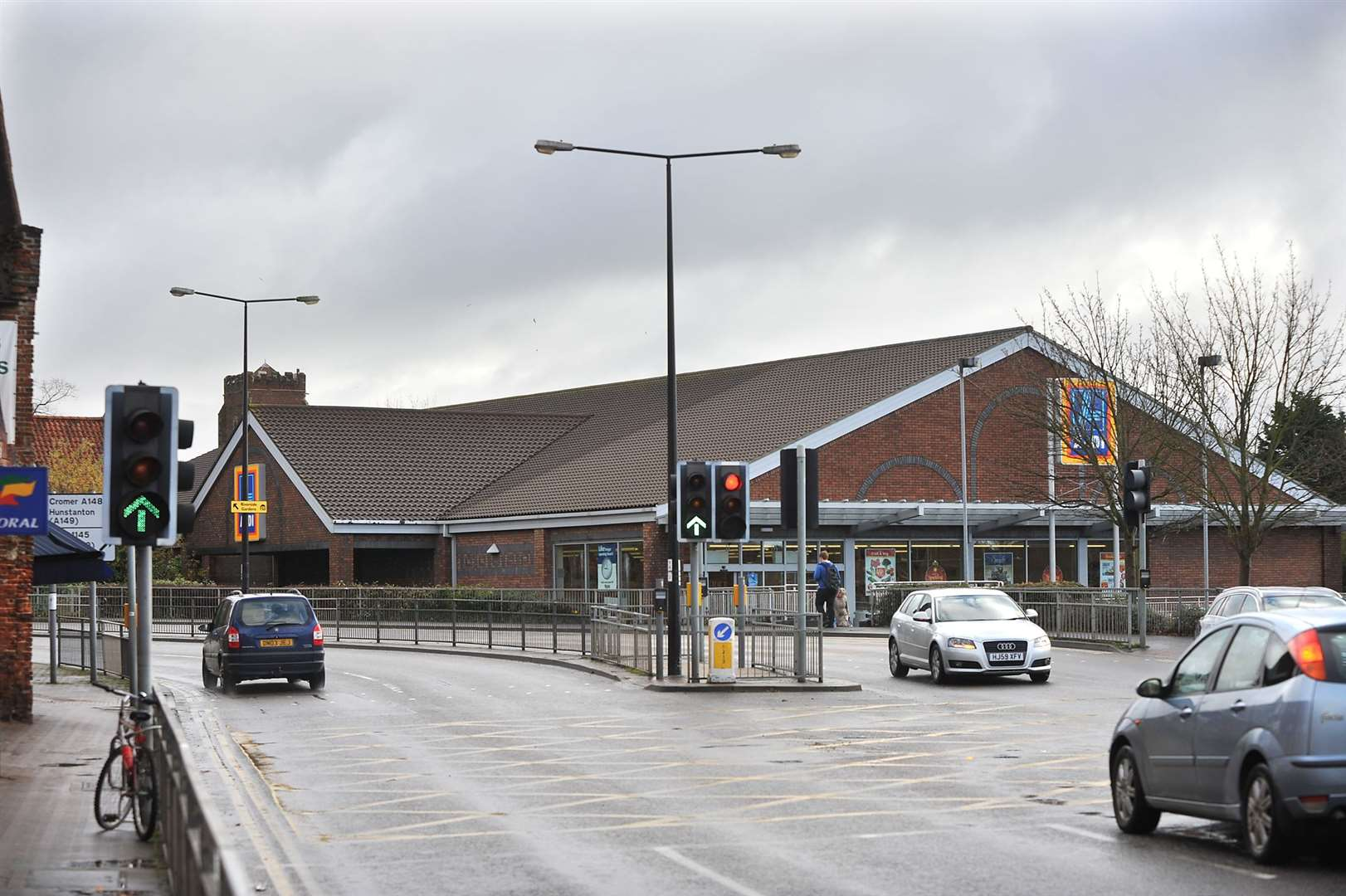 The Aldi store at Gaywood.