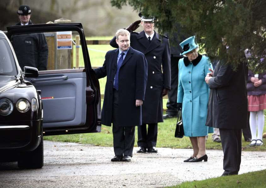 The Queen attending morning service at Sandringham