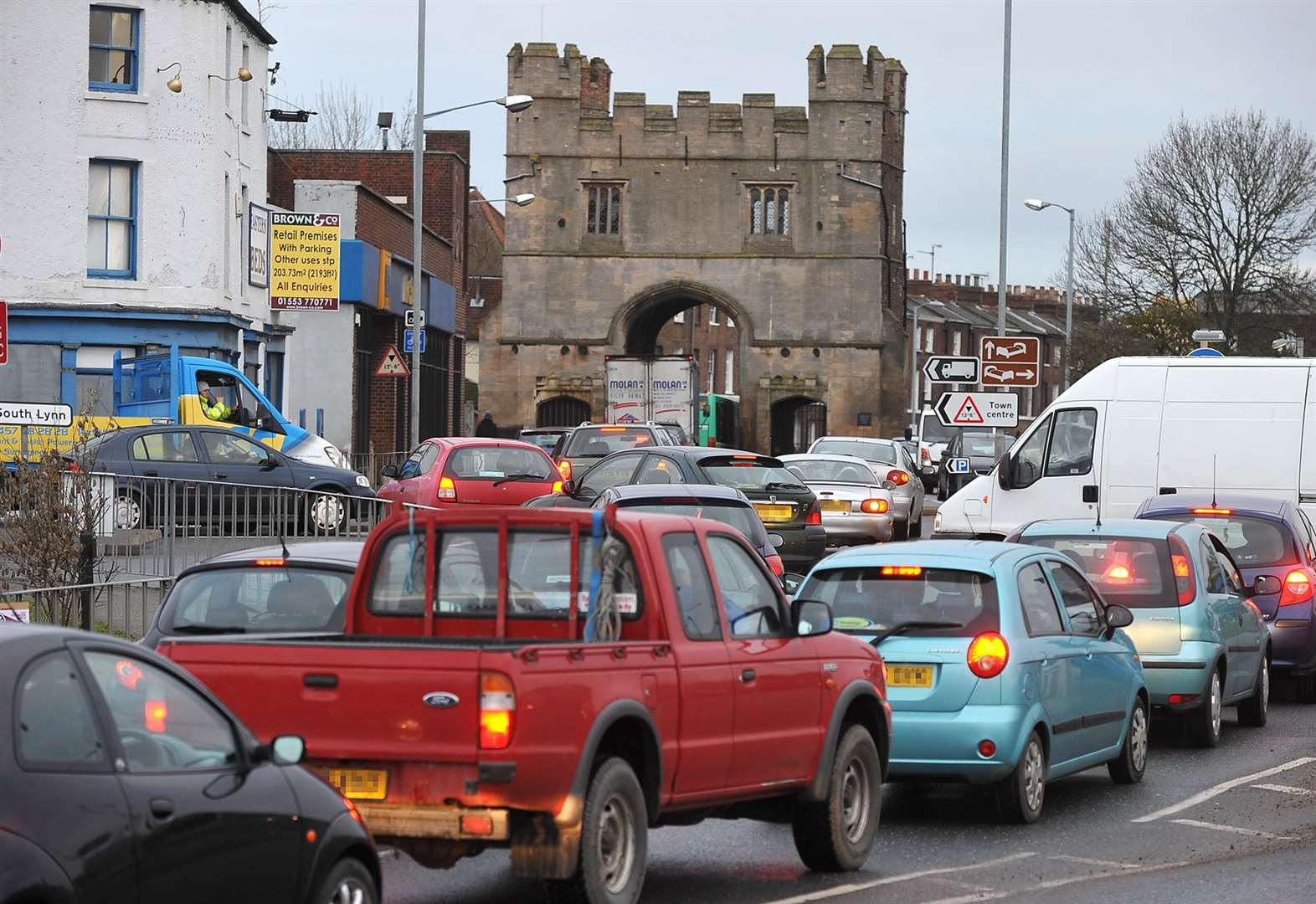 King's Lynn road accident causes rush-hour disruption
