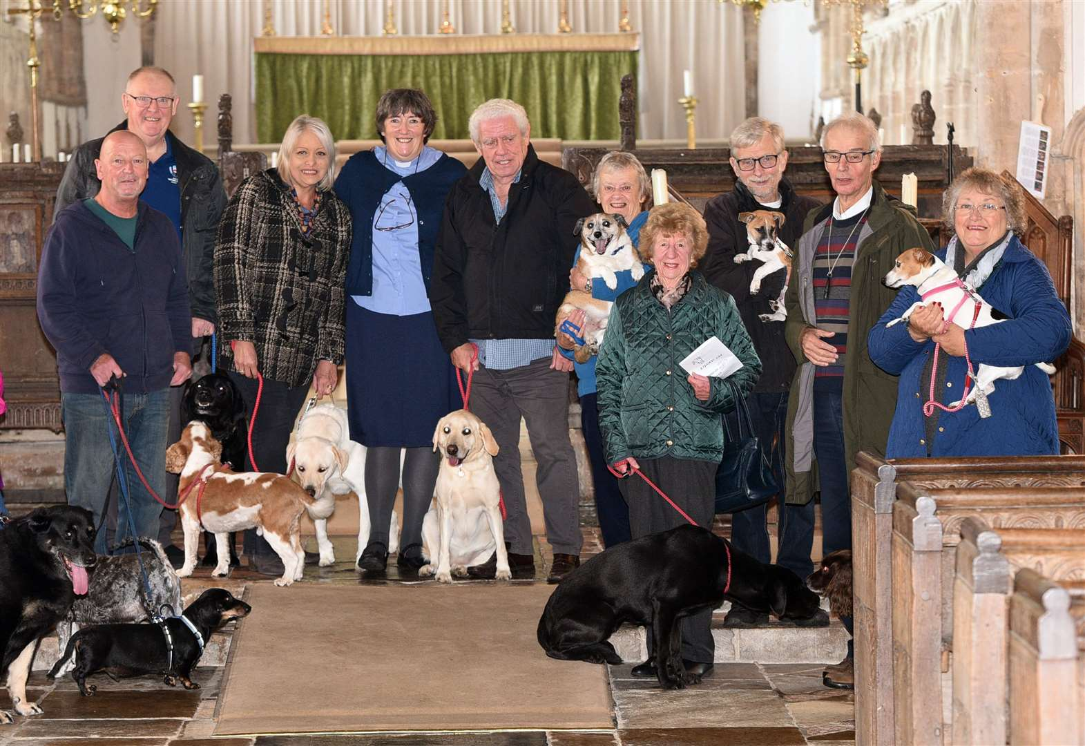 Tails wagging as pets join owners for Sunday service