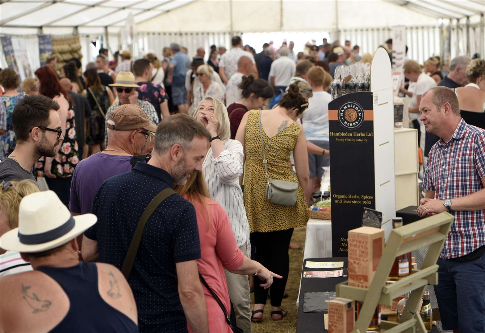 Crowds out in force for Sandringham food festival
