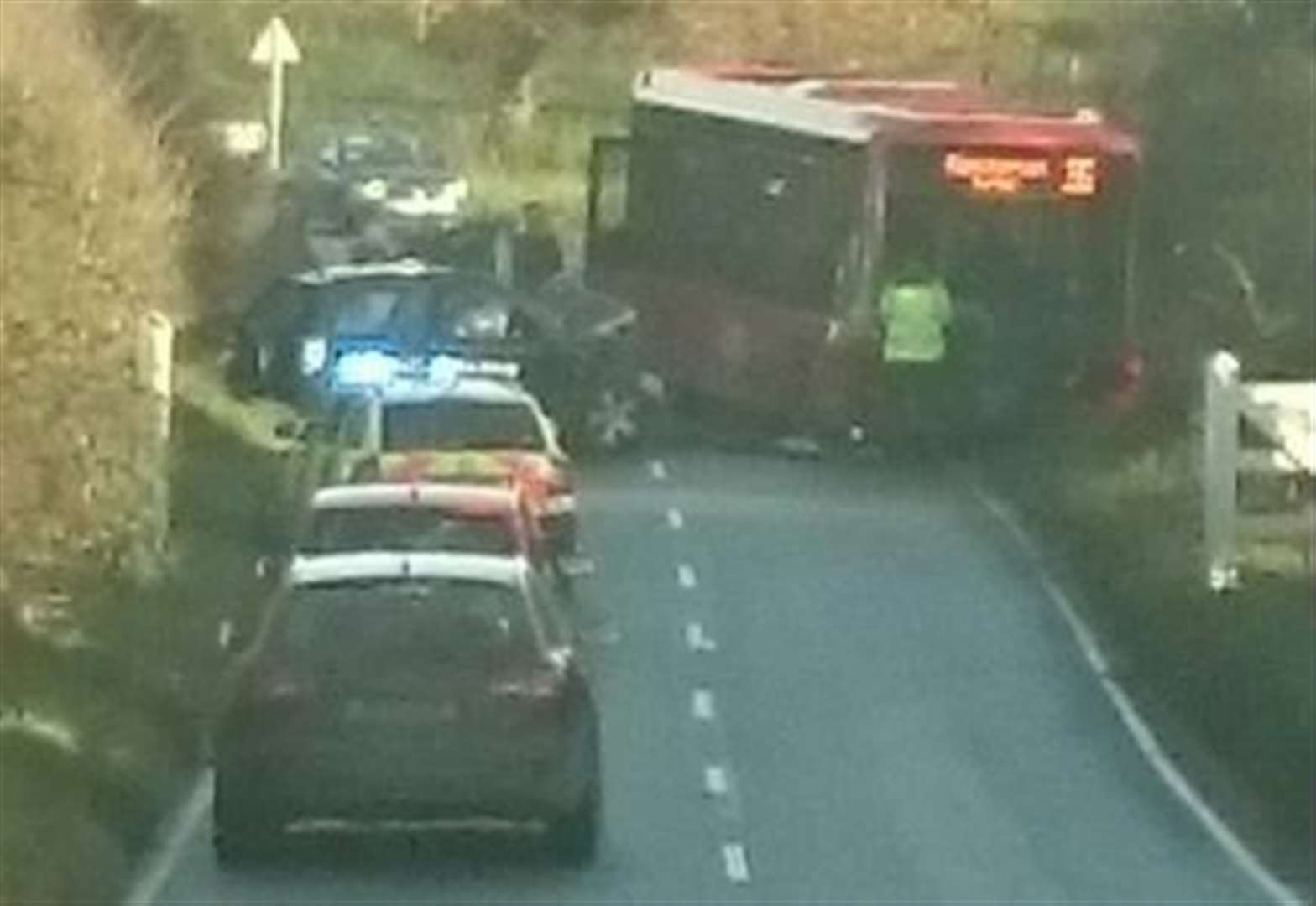 Serious road collision involving bus on A149