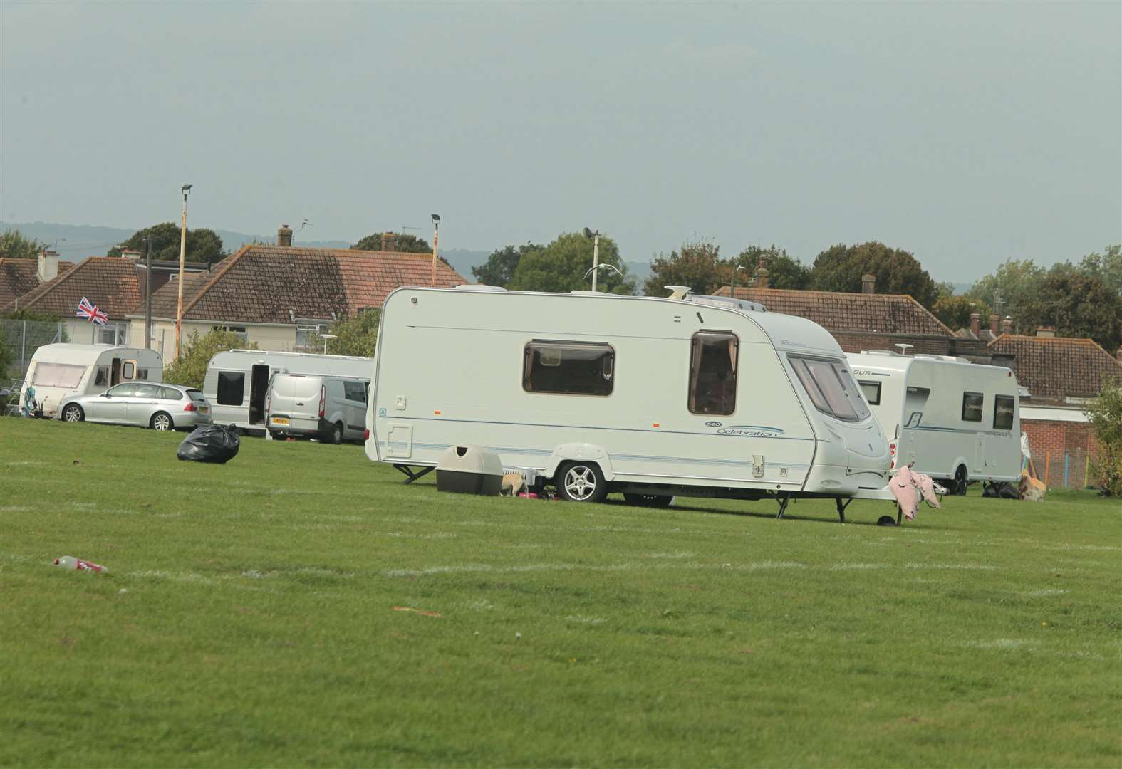 Illegal traveller caravans in West Norfolk