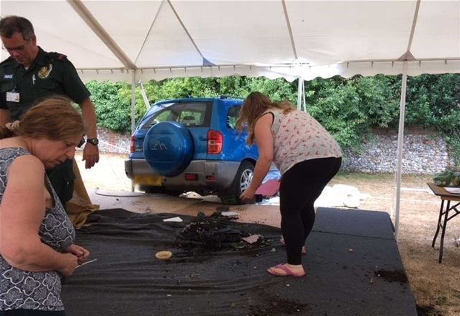 Car crashes into marquee at Burnhams flower show and carnival