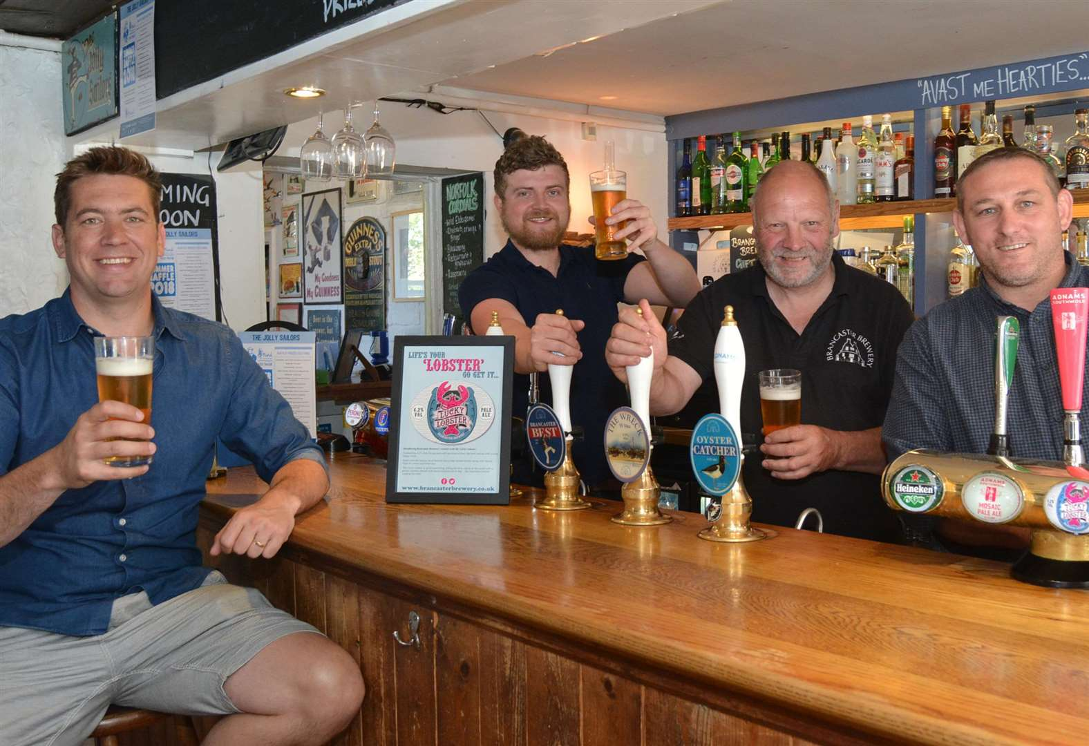 Brancaster Staithe pub toasts new Lucky Lobster beer