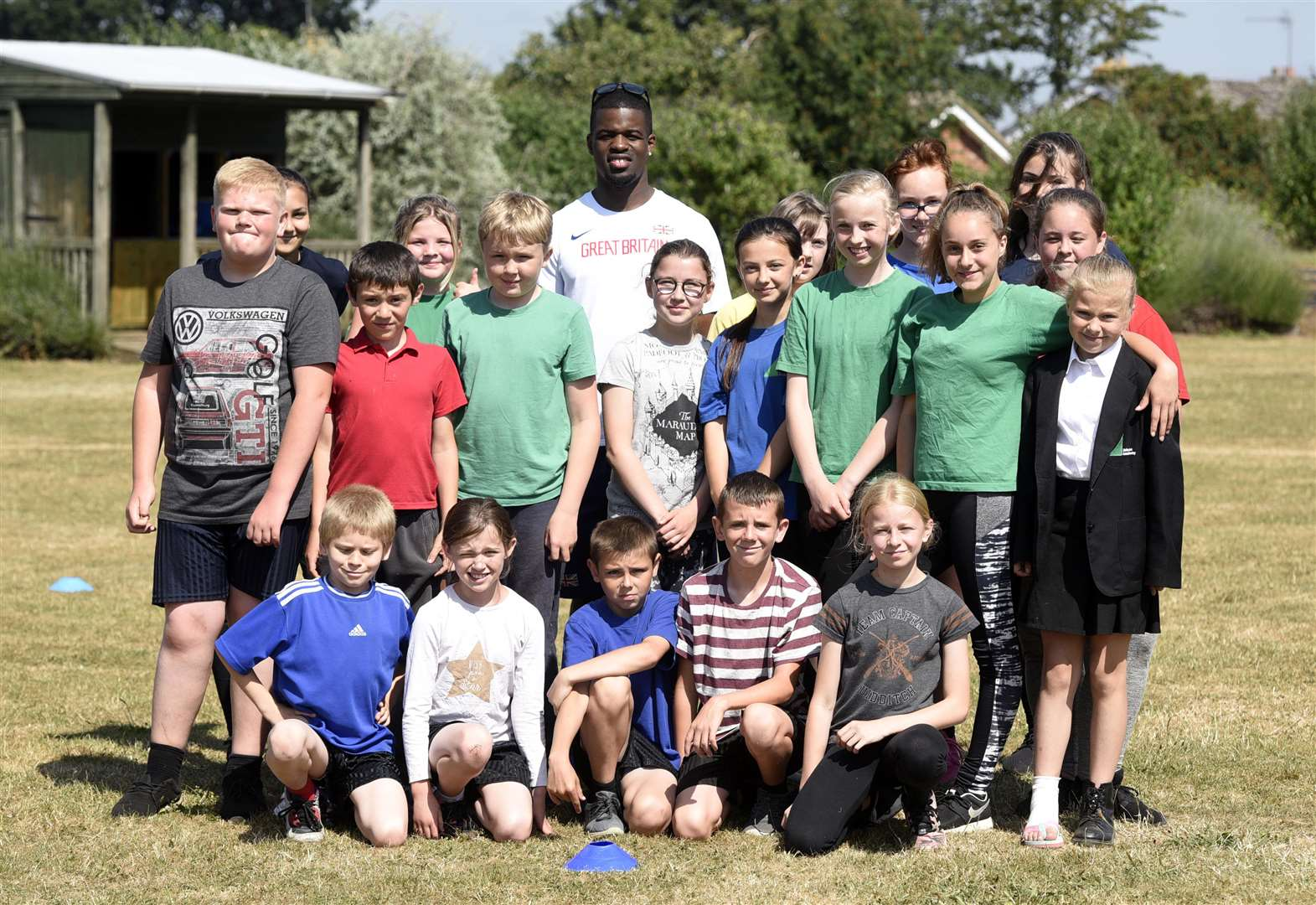Team GB alumni pay visit to West Norfolk school