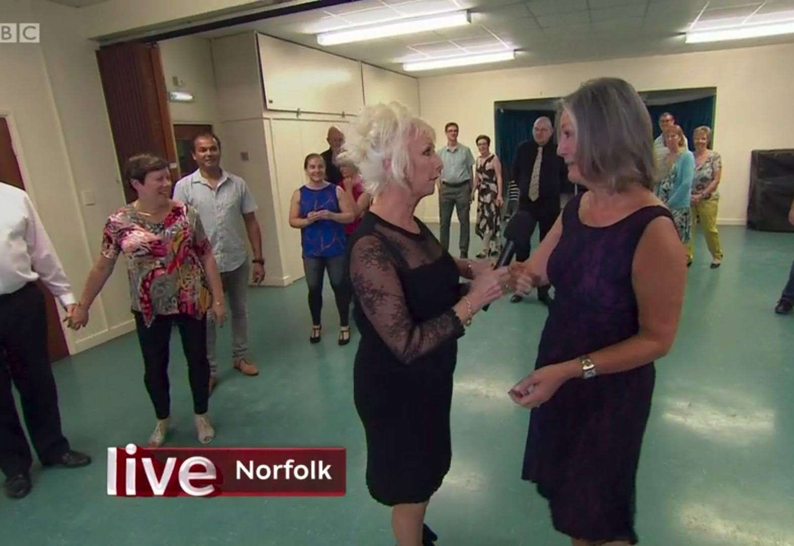 Strictly a surprise for Gaywood dancers as The One Show TV crew shows up to rehearsals
