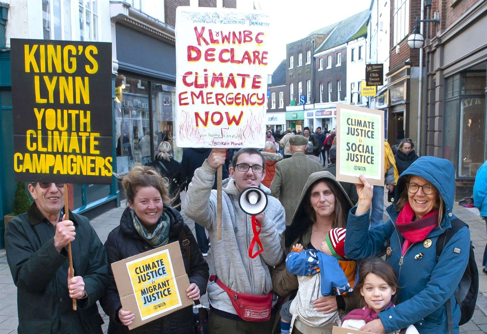 King's Lynn youth climate group meets in town for first protest of 2020