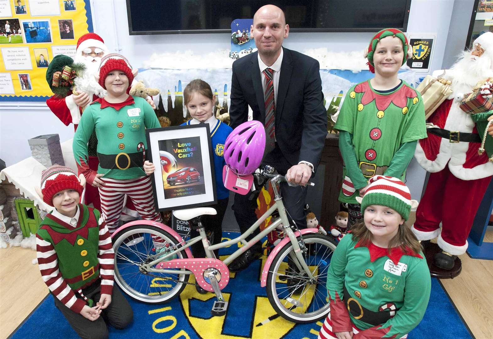 Christmas comes early for Howard Junior School's competition winner