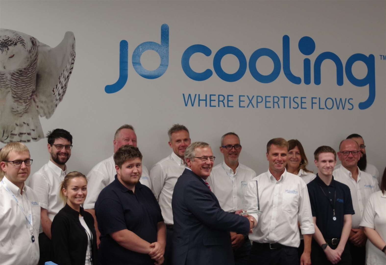West Norfolk Mayor presents Lynn's JD Cooling with Stock Exchange accolade