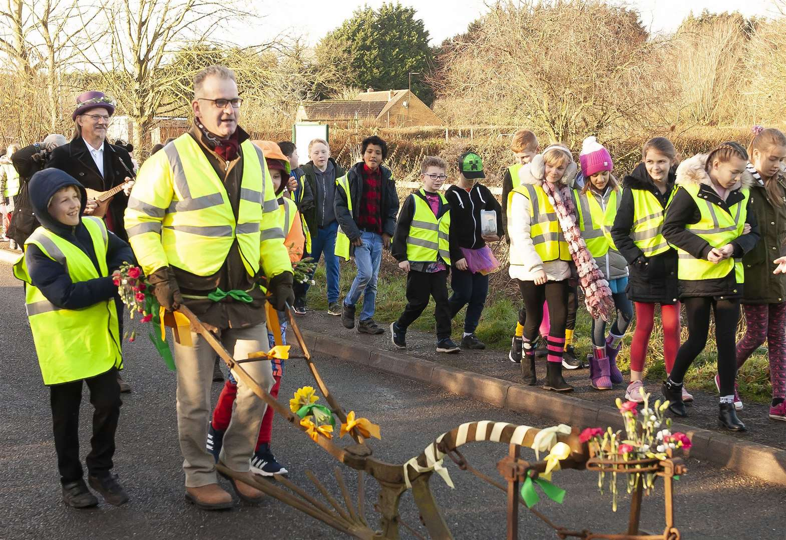 Pupils bring Plough Monday tradition back to life in West Norfolk village