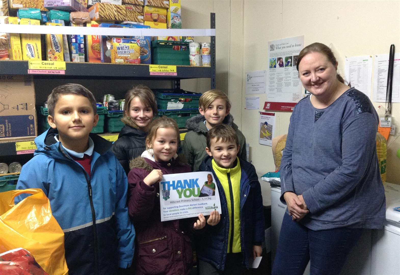 Hillcrest Primary School gathers a tonne of donations for food bank