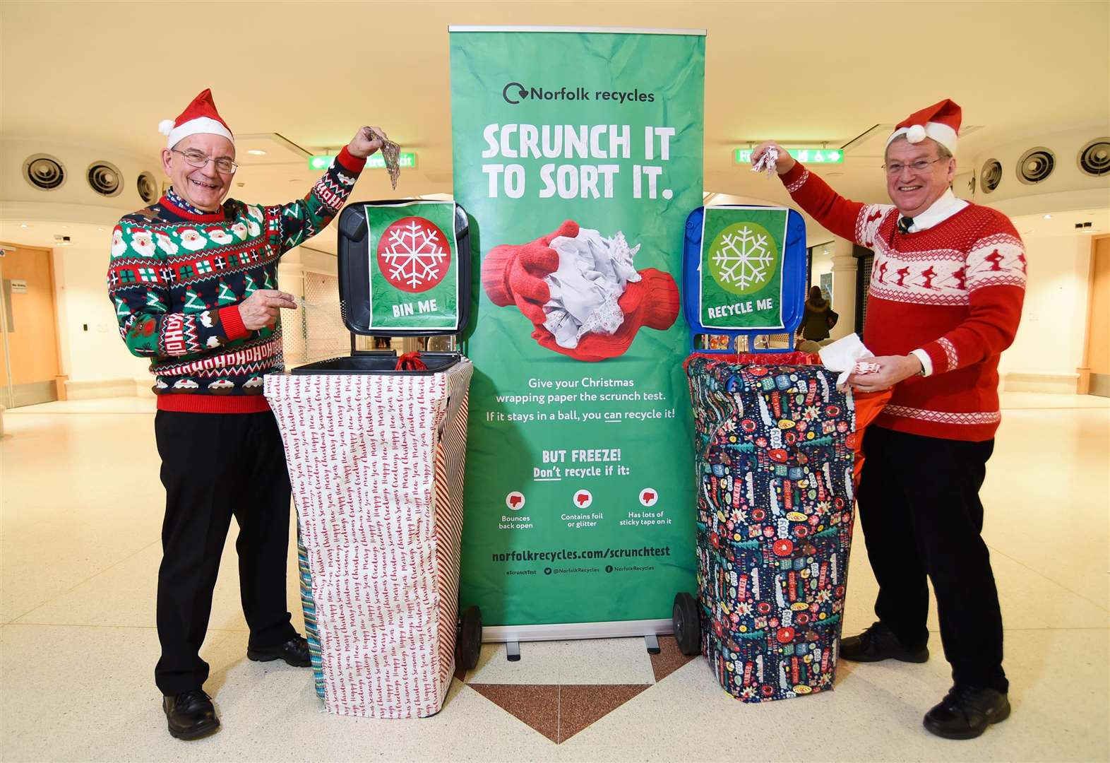 Scrunch it to sort Christmas wrapping paper, say Norfolk waste officials