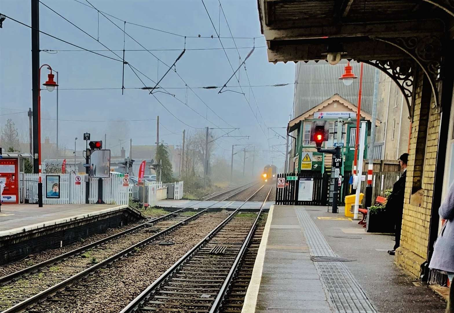 Trains being missed due to missing bridge at Downham station