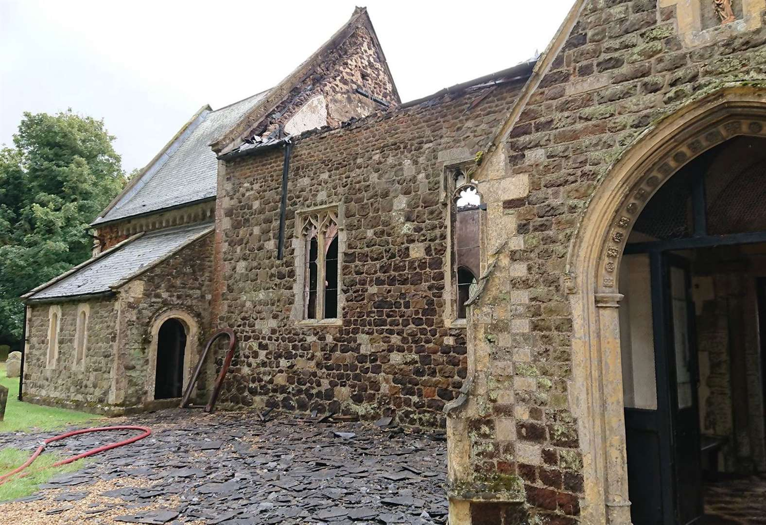 Online fundraising campaign launched to save fire-devastated village church