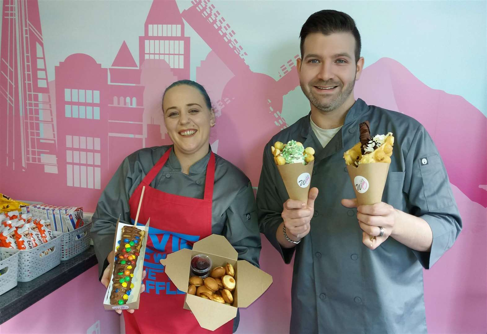 A new shop dedicated to waffles opens today in Lynn town centre