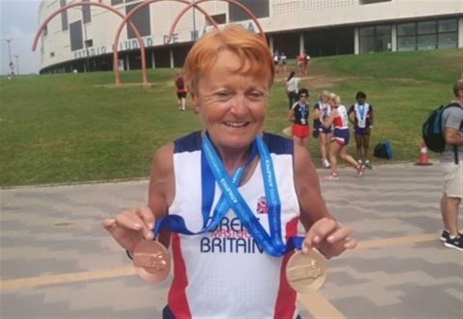 Ryston's Cath shows her class with medals