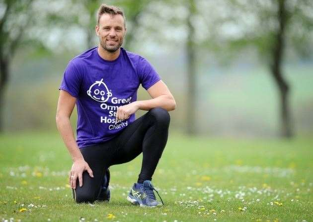 Luke Greer of Gayton will be walking from Eastbourne to Arundel for Great Ormond Street Hospital