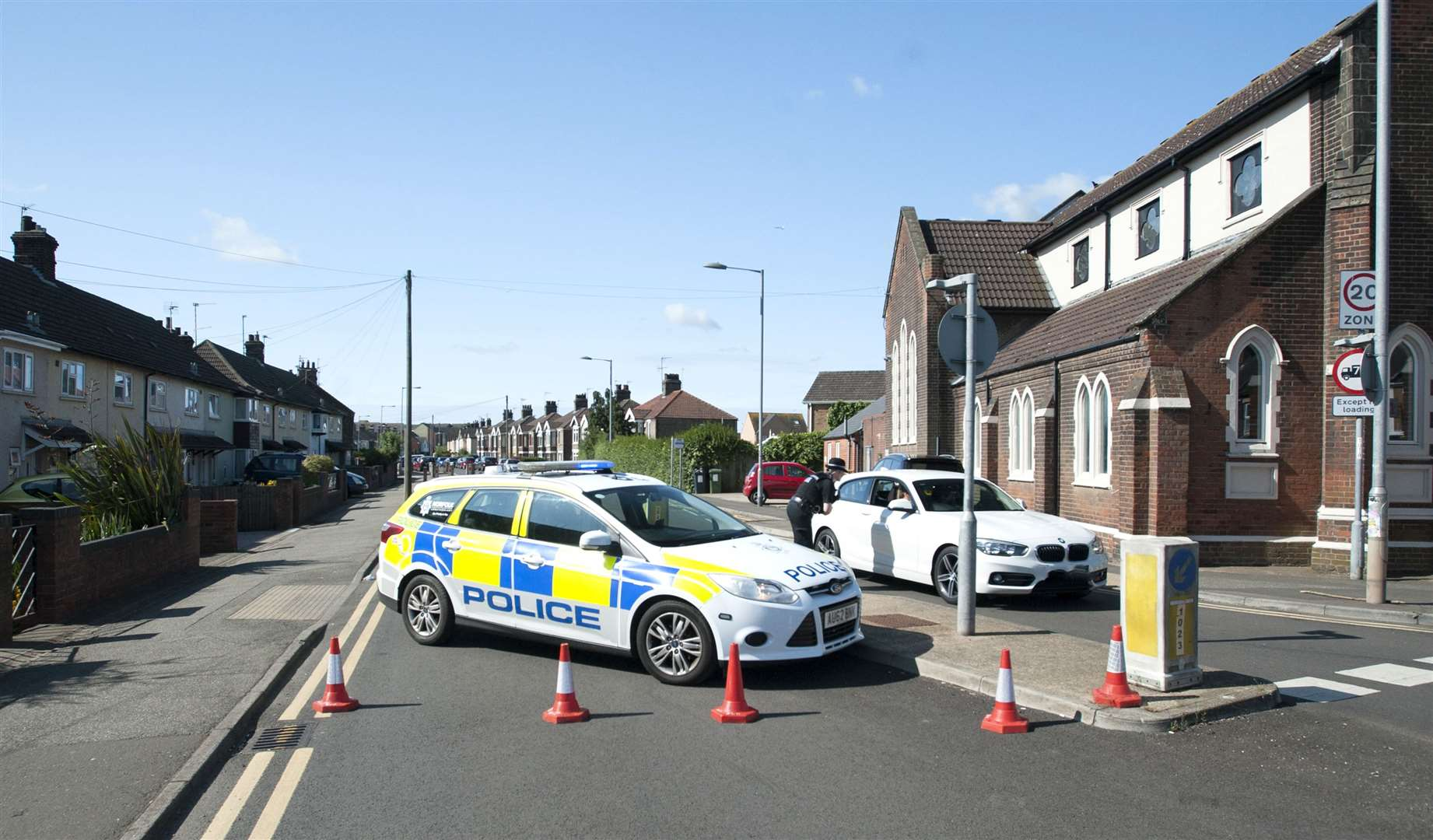 Saddlebow Road King's Lynn Closed due to a serious incident occured.. (13491265)