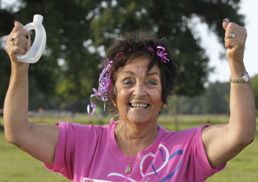 Race for Life 2017 at Houghton Hall iao of Cancer Research UK'Tessa Julnes (74) taking part in the event for many years
