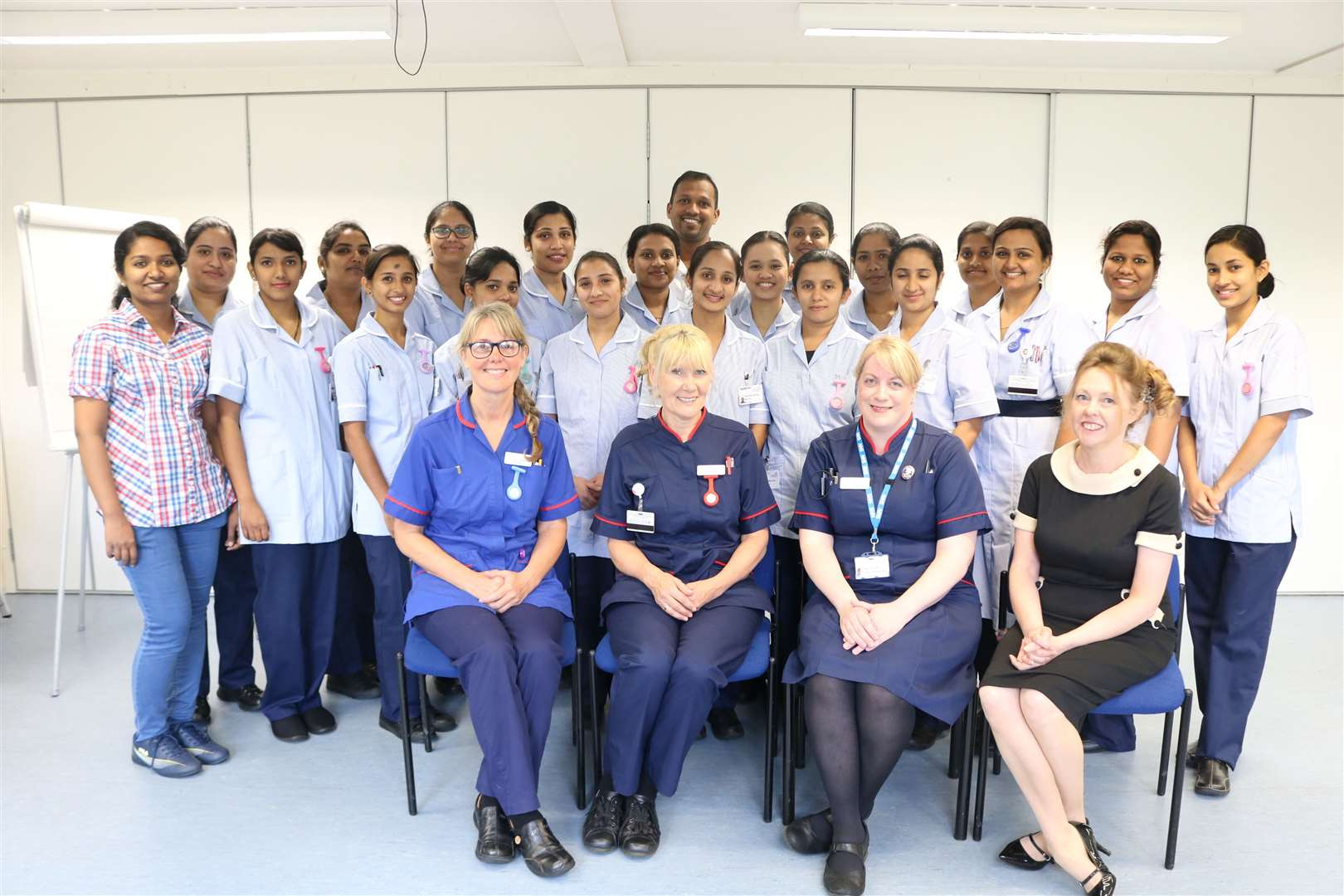 A team of nurses at Lynn's Queen Elizabeth Hospital. Picture: SUBMITTED. (22119368)