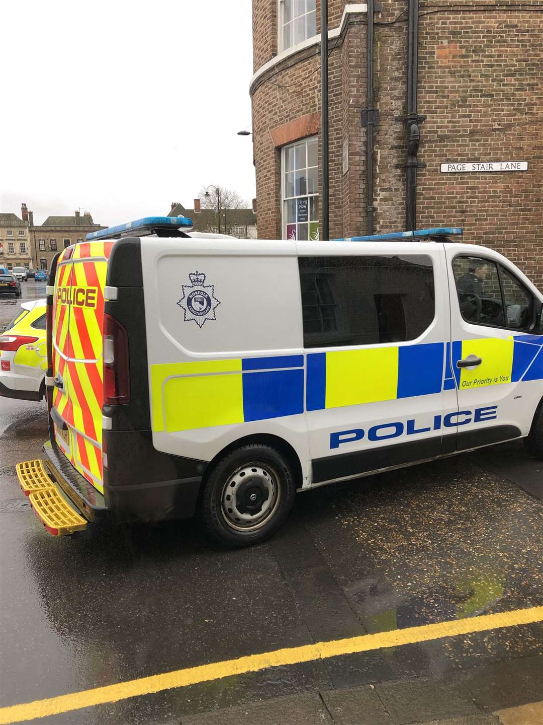 Police responding to an incident on the Tuesday Market Place in King's Lynn. (7732596)