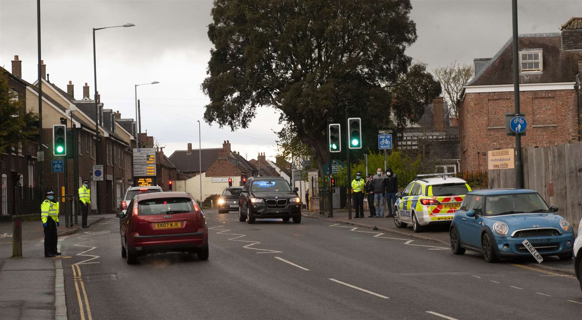 Road Traffic incident at Highgate King's Lynn Police at the scene.. (46841307)