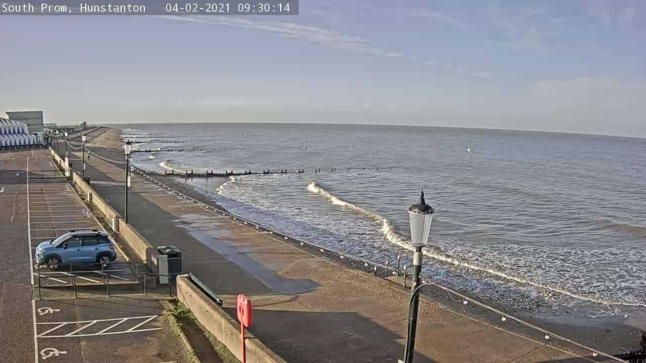 Downing Street says the 'Stay at Home' message will stay in place for now, meaning this webcam shot is as close as many should get to Hunstanton.