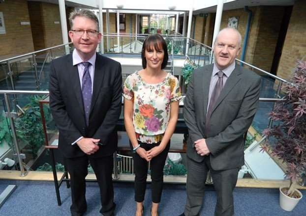 The EHT&C commercial team, from left, Craig Fowler, Daniella Nundy and Andrew Dawson.