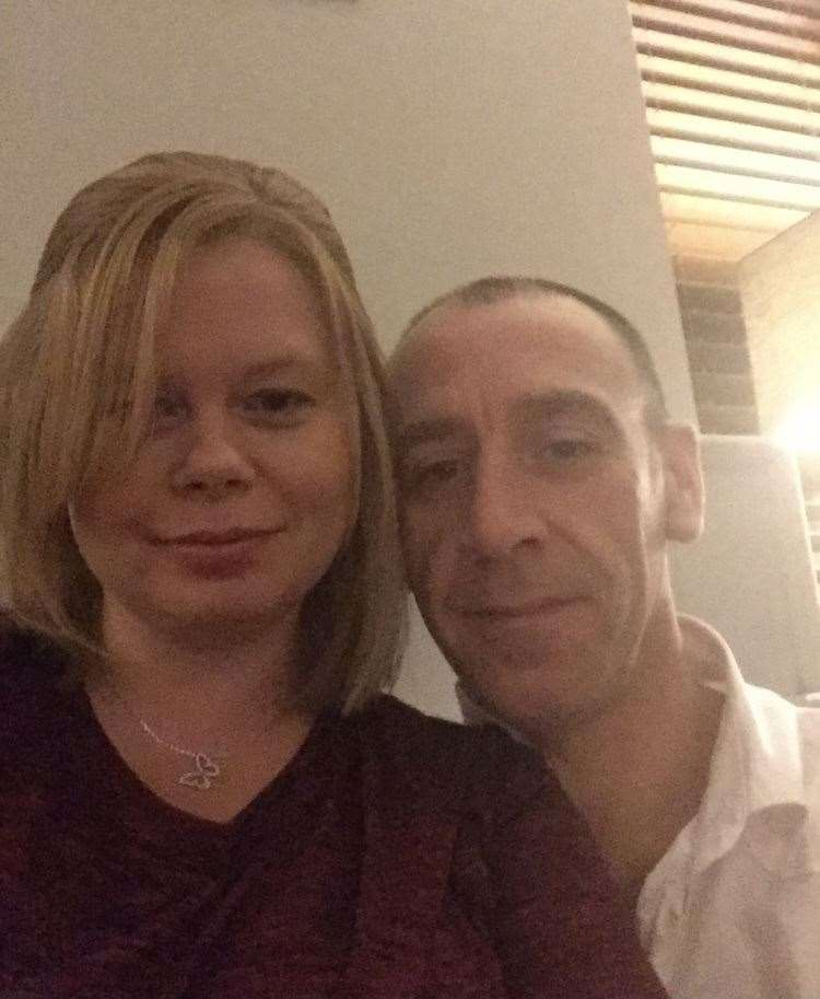 Jo Patrick and her partner Steve. Picture: SUBMITTED