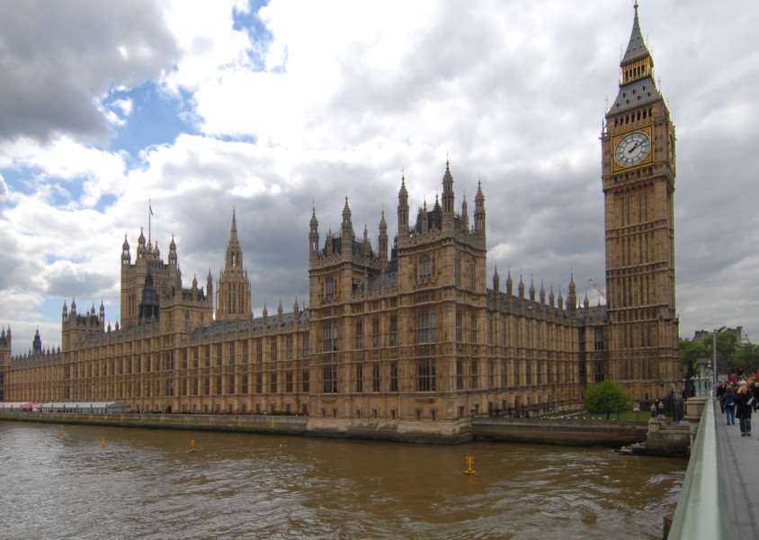 Views of the Palace of Westminster - the Houses of Parliament.