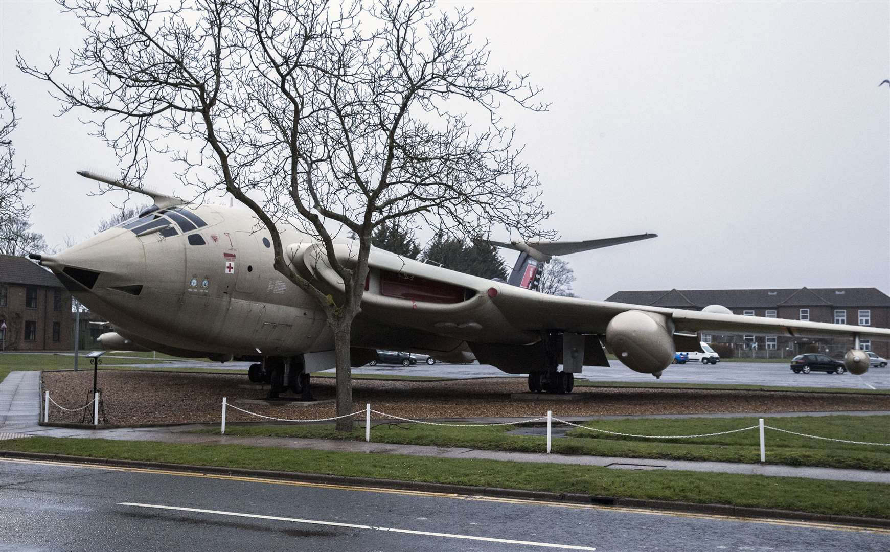 Image shows The Victor aircraft at RAF Marham which is part of a memorial opposite Station Head Quarters.Picture: RAF Marham