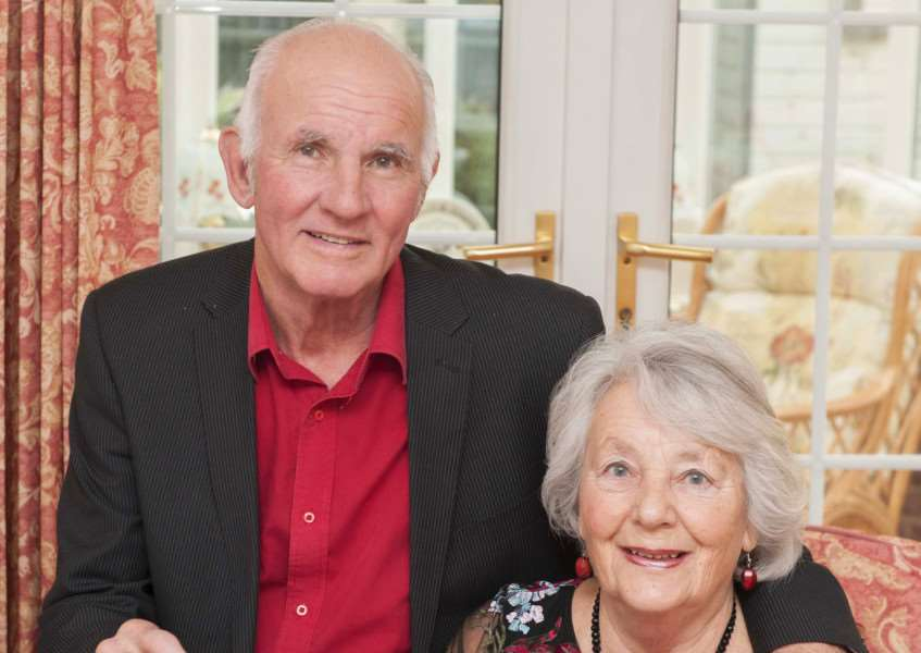 50th Golden Wedding Anniversary. Pictured Roy and Gill Williamson.