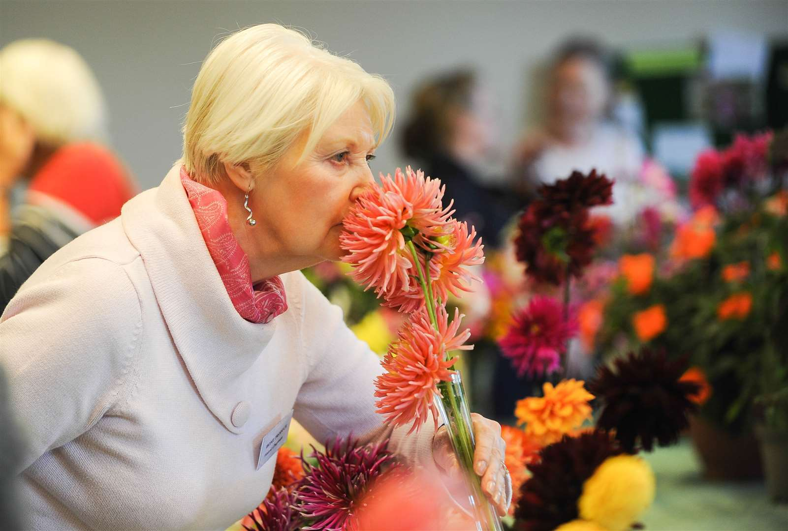 The Greenfingers Gardening Club annual horticultural show at Pott Row Village Hall. Pictured is Valerie Chapman.. (16251885)