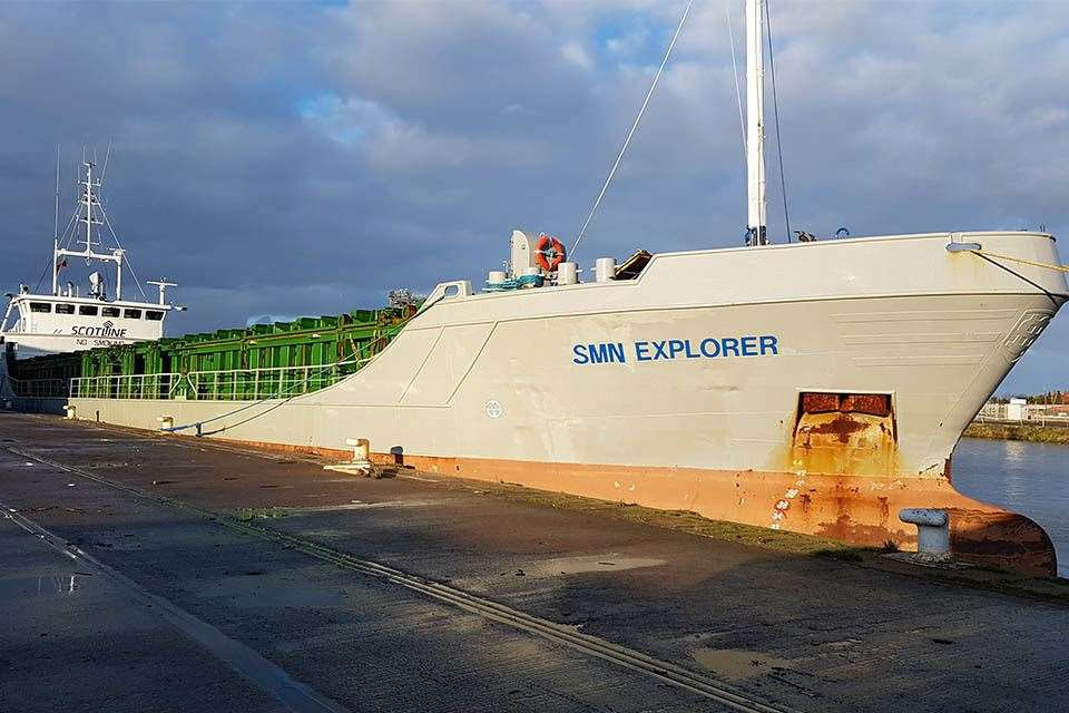 Cargo vessel SMN Explorer. Picture: Marine Accident Investigation Branch (5998324)
