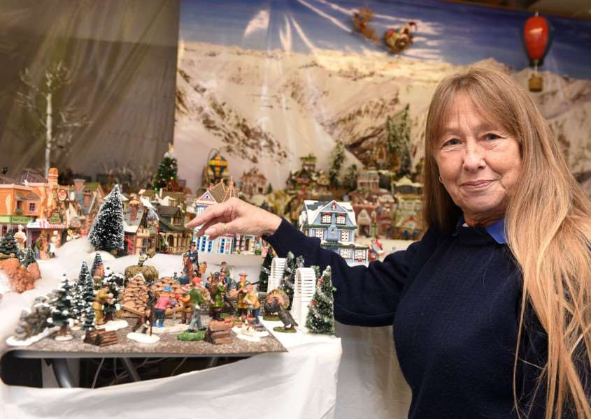 Christmas model village to fundraise money for MAGPAS and SSAFA Jane Gilmurray