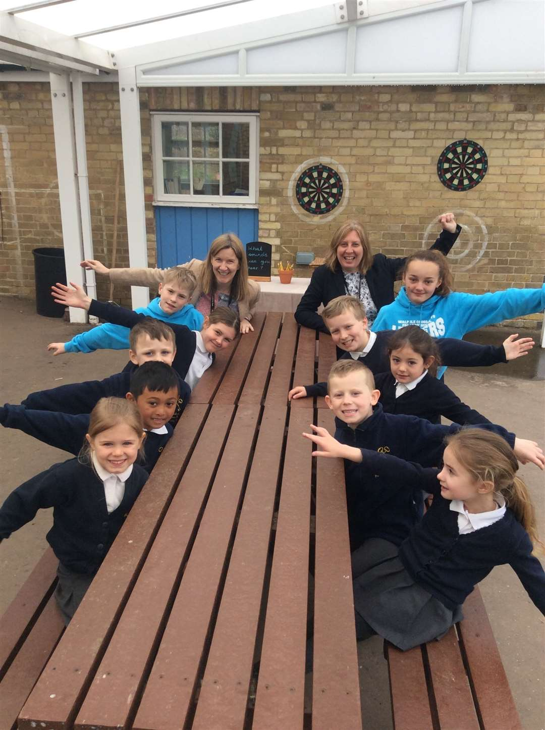 Walpole Cross Key Primary School pupils happy with a Good grading from Ofsted. (8258521)