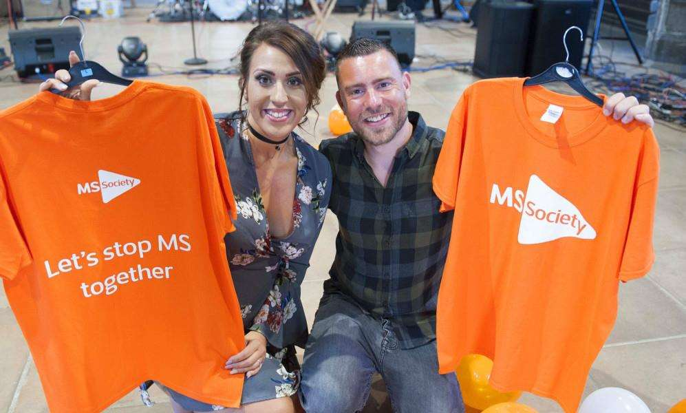 F.M.S. (Fighting Multiple Sclerosis) Pictured organiser of the event Ellie Nicholas with Husband Jay Nicholas at St Nicholas Chapel King's Lynn.