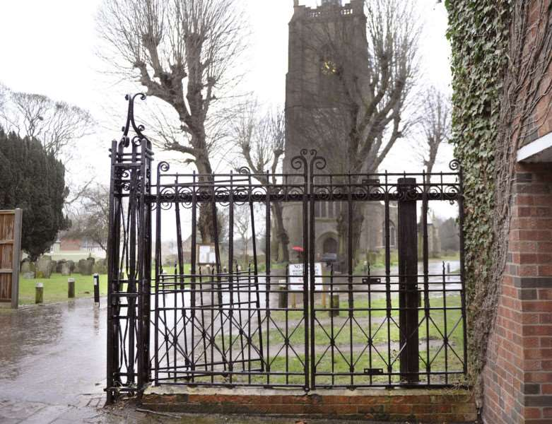 St Peter and St Paul Church Swaffham and the gates and railings which are set to be replaced.'(View looking to the main church entrance)