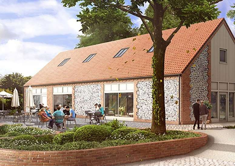 An artist's impression of the new restaurant Socius in Burnham Market.