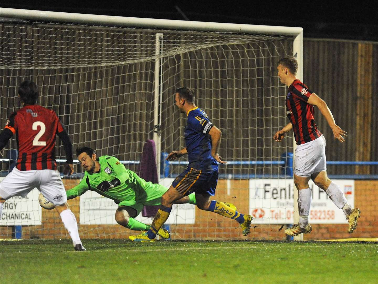 Ryan Jarvis sees the Hereford goalkeeper make a save. (22456651)