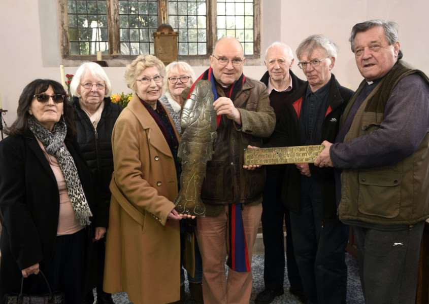 Hand over of Quadryng brass by Outwell Church