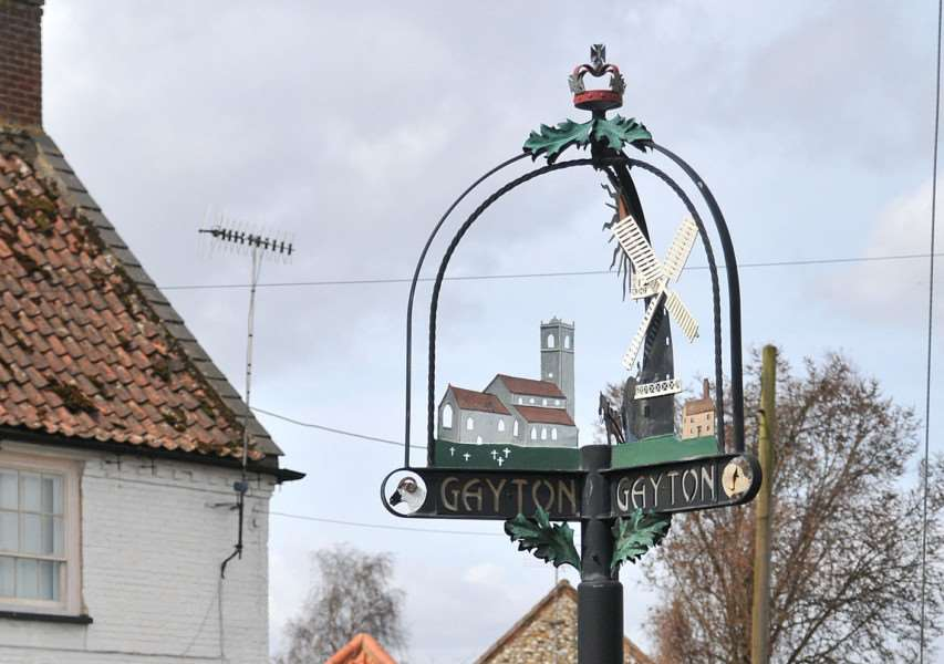 Gayton - Village Sign