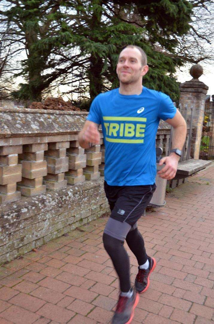 Mark Harris has made running a big part of his active lifestyle