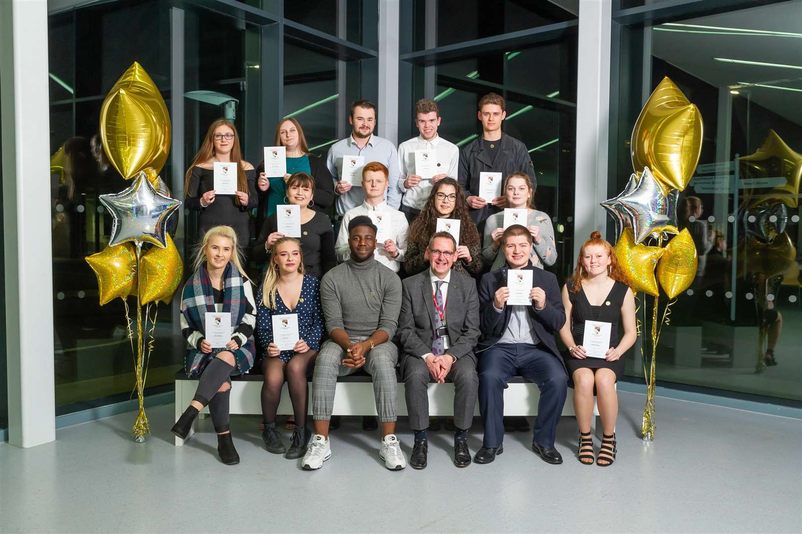 Students enjoy their success at the College of West Anglia's celebration evening. Pictures: Paul Tibbs (6464429)