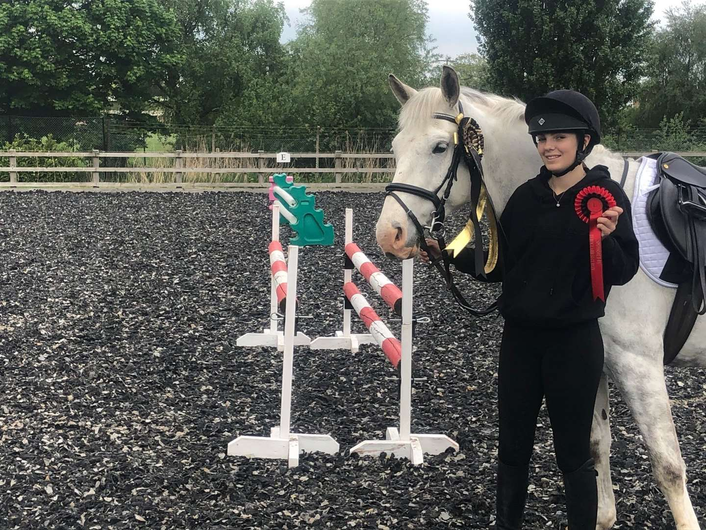 Maddie Kirk, from Marshland St James, with Bramshill Bouncer won the special prize for the best junior rider. (34635441)
